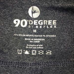90 Degree By Reflex Pants - Bundle 90 Degrees Charcoal Leggings Crops M